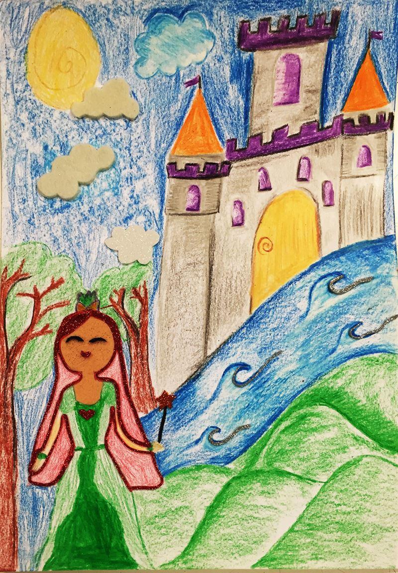 Primo üçgen Mum Boya Resim Yarışması Rota Koleji