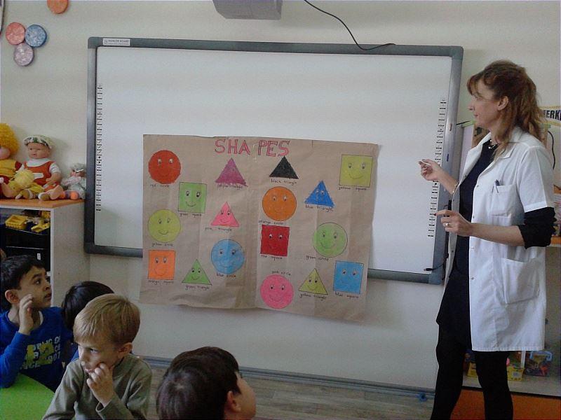 Shapes çizimboyama Etkinliği Rota Koleji